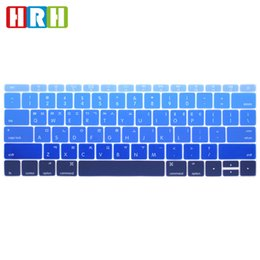 Macbook Retina 13 Inches Australia - HRH Rainbow Korean Silicone Keyboard Cover Skin for MacBook New Pro 13 Inch A1708 A1988 No Touch Bar Retina 12 A1534 A1931 English Version