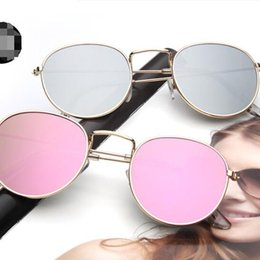 810acbe711a26 Venda Por Atacado A nova maré de óculos de sol relance óculos de sol  moldura redonda ofuscante cor óculos de sol por atacado