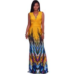 a9137aaa49 Mermaid Prints UK - Women Floral Print Short Sleeve Boho Dress Evening Gown  Party Long Maxi