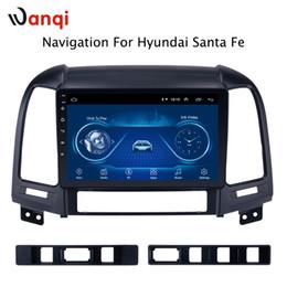 Android 8.1 9 inç Araba Multimedya GPS 1 GB Hyundai Santa Fe 2005-2012 Için 16 GB Radyo Stereo Video Navigasyon