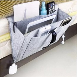 bedside holder Australia - 30pcs Christmas Grey Bed Storage Pockets Felt Bedside Hanging Storage Organizer Holder with 1 Inner Pockets for Bed Table Sofa