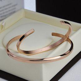 acf8dd95be2 2019 New Fashion Bracelet Cuff Rose Gold Silver Bangle 100% stainless steel  DW Bracelets Women Men Brand Bracelet pulsera with Gift Box