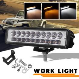$enCountryForm.capitalKeyWord NZ - 60W LED Light Bar Double Color Work Light Off Road 4x4 Fog Driving Lamp Offroad for Truck Boat ATV SUV Car Headlight