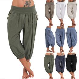 $enCountryForm.capitalKeyWord NZ - Womens Palazzo Harem 3 4 Pants Leggings Baggy Aladdin Boho Hippy Trousers Loose Linen Cotton Pants Capris S-5XL