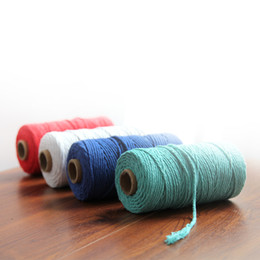 $enCountryForm.capitalKeyWord Australia - 3mm 100% Cotton Rope Home Woven Macrame Cord Wall hanging Arts and Crafts Rope Decorative Twine Cotton Thread Chinese Knot Cord