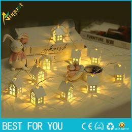 String Lights Decor Australia - New Hot LED Shine House for Christmas Tree Decorations 2M 3M 6M Fairy Light String Wedding Cabins Christmas Pendant Drop Ornaments Decor
