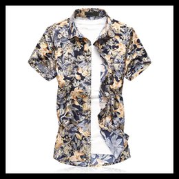 $enCountryForm.capitalKeyWord Australia - 2019 New Summer Mens Short Sleeve Beach Silk Shirts Casual Floral Shirts Plus Size M-3XL 5XL 6XL 7XL Mens Cothing Fashion