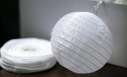 $enCountryForm.capitalKeyWord NZ - 30pcs Lot Mixed Size (20cm,30cm,35cm,40cm) White Paper Lanterns Chinese Paper Ball Lampions For Wedding Party Decoration Supplies