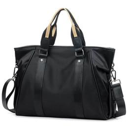 China Korean Style Men's Nylon Briefcase Handbag Fashion Business Large Bag Casual Crossbody Bag For Men Laptop Shoulder Bags XA218ZC cheap korean men briefcase suppliers