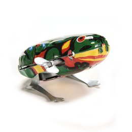 Animal Toys Jump NZ - NEW Vintage Metal Wind-up Jumping for Frog Model Clockwork Tin Toys Collectible Classic Education Toys Gift For Children