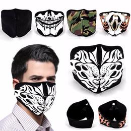 $enCountryForm.capitalKeyWord Australia - Mayitr Neoprene Motorcycle Half Face Mask Sport Biker Skateboard Motorbike Scary Reversible Skull Skeleton Masks