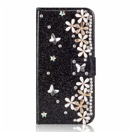Iphone 5s case for women online shopping - Bling Flower Wallet case for Apple iPhone XS Max XR S Plus Flip Kickstand Bumper for Galaxy S9 S9 S8 S8 Women Girls
