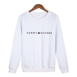 Wholesale New foreign trade men s Designer hoodies tide brand printing plus cashmere sweater men women round neck loose lovers Embroidery Sweatshirts