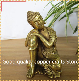 Rubber Sleep Australia - Tibet Buddhism Brass Seat Sleeping Shakyamuni Buddha craft statue