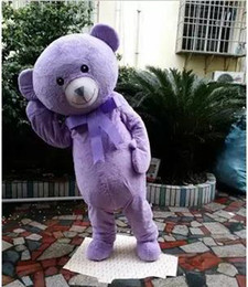 cakes products Canada - Products sell like hot cakes teddy bear mascot animal costume purple lavender mascot bear clothing adult cartoon mascot for Halloween