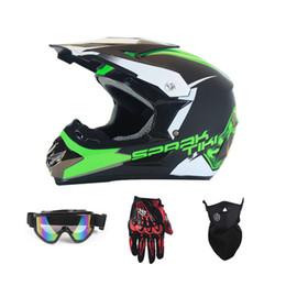 $enCountryForm.capitalKeyWord Australia - Motocross Helmet with Goggles Mask Gloves Moto Racing Motorcycle Off-Road ATV Protective Gear Headguard for Adult Man Woman