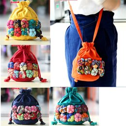 $enCountryForm.capitalKeyWord NZ - 11 Colors Chinese Ethnic Character Cloth Handmade Preschool Baby Colorful Stitch Kids Children Cotton Pumpkin Shoulder Bag