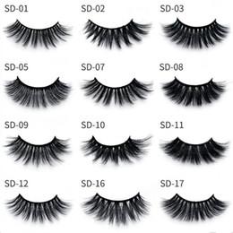$enCountryForm.capitalKeyWord Australia - Fast Shipping!!!! 3D Eyelash 17 Styles Selling 1pair lot 100% Real Siberian Strip False Eyelash 3D Eye Lashes Extension Beauty Tools