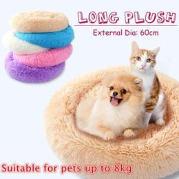 $enCountryForm.capitalKeyWord Australia - 1 pcs Large Small Long Plush Soft Pet Cat Dog Bed Puppy Cave Deep Sleeping Nest Warming House Pet Cushion Mat