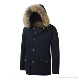 men s down arctic parka Australia - Latest Fashion Wool rich Men's Arctic Anorak Down jackets Man Winter goose down jacket 90% Outdoor Thick Parka Coat warm outwear