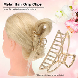 Discount women hair clamps - Ladies Metal Hair Clips Large Hair Claw Clamps Hairdress Styling Accessories Large Size Butterfly for Women Hairpin