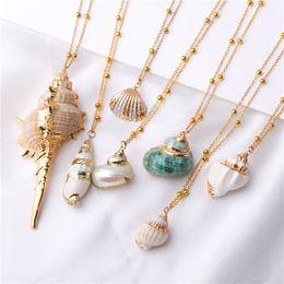 $enCountryForm.capitalKeyWord Australia - 2019 Boho Conch Shells Necklace Sea Beach Shell Pendant Necklace For Women Collier Femme Shell Cowrie Summer Jewelry Bohemian
