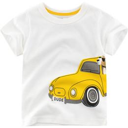 Summer Boys T Shirts Patterns Australia - 2019 Summer New Enfant Boys T-shirt Cotton Children Cartoon car pattern Tops Kids clothes Baby boy Short Sleeve T-Shirt 2-7y
