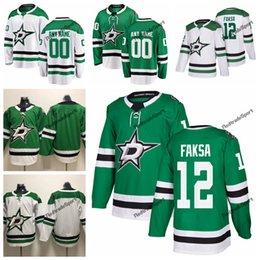 2019 Radek Faksa Dallas Stars Hockey Jerseys Mens Cheap Custom Name Home  Green  12 Radek Faksa Stitched Hockey Shirt S-XXXL 74b3f02f3