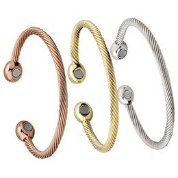 Health Care Gift Set Australia - Gold Garlic Bracelet Copper Plated Gold Bracelet Magnet Health Care Bracelet Magnetic Twist Women Bangle Gift Jewelry