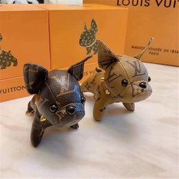 Decoration cartoon online shopping - 2019 original brand design Super Cute Puppy Keychain Bag Pendant Car Keychains Decoration Luggages Bag Parts accessories Gifts