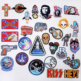 $enCountryForm.capitalKeyWord NZ - Che Guevara Spaceship Gun Iron On Patches Sewing Embroidered Applique for Jacket Clothes Stickers Badge DIY Apparel Accessories