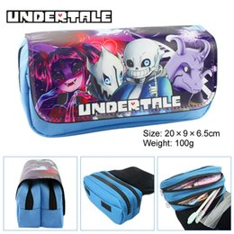 $enCountryForm.capitalKeyWord Australia - Cartoon Game Undertale Pencil Case Makeup Bag Zipper Pouch Students Stationery Pouch Pen Bag Cosplay Otaku Gift DHL LE387