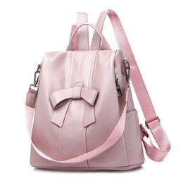 Styles Backpacks Australia - good quality Sweet Style Bow Design Backpack For Women Pu Leather Candy Color Female Rucksack Large Capacity Backpack For Women