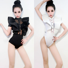 $enCountryForm.capitalKeyWord Australia - 2018 White Jazz Dance Costumes For Lady Women Bar Dj Dancers Stage Hip hop Clothing Sexy Show Female Dance Singer Bodysuit I314