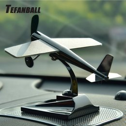 China Tefanball Solar Car Decoration Energy Aircraft Model Ornaments Plane Decoration Car Styling Solar Powered Aircraft Kit cheap aircraft decoration suppliers