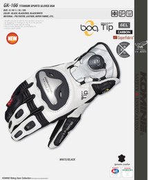 Discount titanium gloves - Free shipping Fit For 2016 Komine GK-166 Racing Genuine Leather Gloves Titanium gloves Driving Motorcycle MOTO GP mkuy