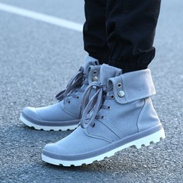 $enCountryForm.capitalKeyWord Australia - 1Hip-hop Desert Style Fashion Autumn High-top Military Ankle Boots Comfortable Canvas Shoe Tactical Boots