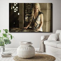 $enCountryForm.capitalKeyWord Australia - Emilia Clarke Has Three Dragons Game Of Thrones Season Painting HD Wall Picture Poster And Print Decorative Home Decor
