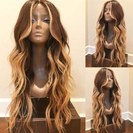 women highlights hair Australia - Body Wave Highlight Lace Wig 1B #27 Full Lace Wigs Human Hair Unprocessed Brazilian Lace Front Wigs Baby Hair For Black Women