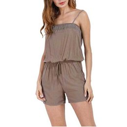 nice jumpsuits Australia - Nice Pop Women Boho Spaghetti Strap Belt Shorts Jumpsuit Playsuit For Summer Cgu 88