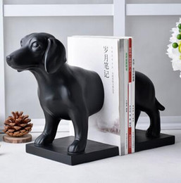 $enCountryForm.capitalKeyWord Australia - Vintage American book Furnishing jewelry ornaments Bookends study creative process of European resin bookend dog Bookends black