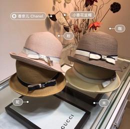 Flat Hats For Women Australia - Summer Organza Floppy Hats for Women Wide Brim Striped Flat Ladies Flower Sun Beach Cap