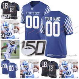 KentucKy football online shopping - Custom Kentucky Wildcats Football Benny Snell Jr Bowden Josh Allen Davonte Robinson Asim Rose Poore Oats Blanda NCAA TH Jersey
