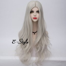 "$enCountryForm.capitalKeyWord Australia - Red Orange Sliver 32"" Lolita Wig Long Curly Wavy Harajuku Hair Cosplay Party Wig >>>>>Free shipping New High Quality Fashion Picture wig"