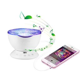 $enCountryForm.capitalKeyWord Australia - New Aurora Marster LED Night Light Projector Ocean Daren Waves Projector Lamp 12 LED with Remote Control 7Color Changing Music Player gifts