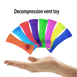 Marmi di stoffa tessuta Spremere giocattolo Marmi di vetro Antistress Stupire giocattolo di scrivania Battitacco di base in acciaio intrecciato palla decompressione Giocattolo antistress