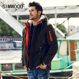 slim winter men parkas NZ - Simwood Men Parkas 2016 New Arrival Brand Winter Jacket Men Fashion Thick Slim Casual Coat High Quality MF1537