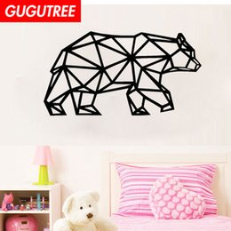 $enCountryForm.capitalKeyWord Australia - Decorate Home bear cartoon art wall sticker decoration Decals mural painting Removable Decor Wallpaper G-1882