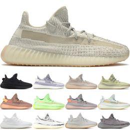X cream online shopping - Stock X Black Reflective Kanye West Lundmark Antlia Synth Static Gid Glow Men Women Running Shoes Zebra Cream White Sneakers