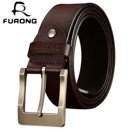$enCountryForm.capitalKeyWord Australia - FURONG 100% Real Cowhide Designer Men Belts Luxury Full Grain Leathere High Quality Original Brand Belts Genuine Leather